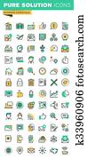 Business essential thin line icons