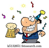 Businessman Celebrating At A Party