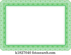 Certificate in green colors