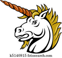 angry cartoon unicorn