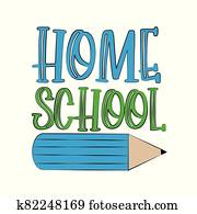 HomeSchool text with pencil