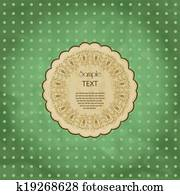 Ornamental round lace frame. Background for celebrations, holidays, sewing, arts, crafts, scrapbooks, setting table, cake decorating. Lace doily.