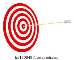 Target and arrow.
