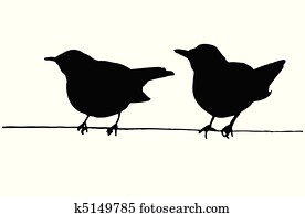 two birds on the wire