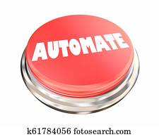 Automate Simplify Easy Process Automation Button 3d Illustration