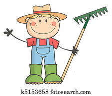 Caucasian Farmer Boy