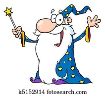 Jolly Old Wizard In A Star Robe