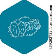 Ooops Clipart | Our Top 123 Ooops EPS Images | Fotosearch