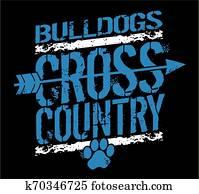 bulldoggen, überqueren land
