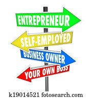 Entrepreneur Self Employed Business Owner Your Own Boss Signs