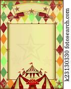 Rhombuses circus vintage background