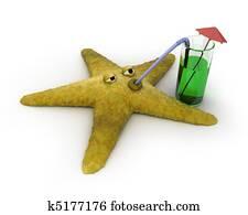 Starfish drinks juice