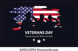Veterans Day, Memorial Day, Patriot Vector for Banner, Brochure, Print Ad, Sticker