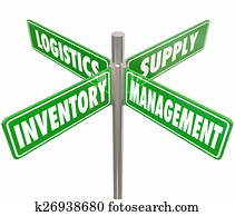 Inventory Management Logistics Supply Control 4 Way Road Signs