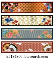 Japanese traditional banners