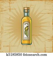 Retro Olive Oil Bottle