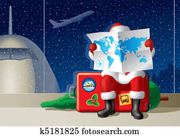 Santa's Christmas travel