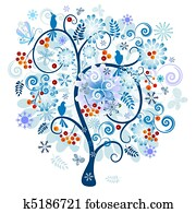 Winter decorative tree