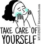 Woman self care label