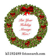 Christmas Holiday Wreath Stationary