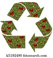 Christmas Holly Recycle Symbol