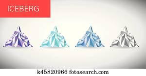 ice berg vector illustration .