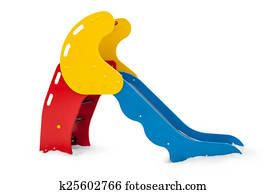 Single small playground slide