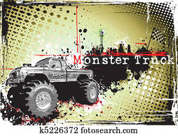 dirty monster truck