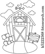 Line Art Barn House