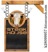 Steak House - Blackboard with Chain