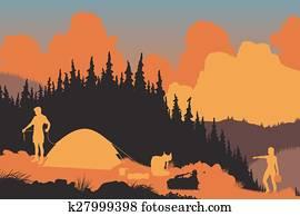 Wilderness campers