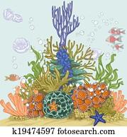 Coral reef illustration 1