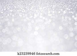 Silver Glitter Winter Christmas Background