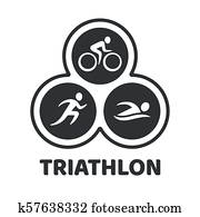 Triathlon event illustration