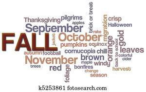 Fall Word Cloud