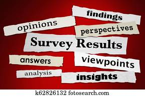 Survey Results Answers Feedback News Headlines 3d Illustration