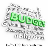 Budget 3d Word Collage Planning Finances Spending Saving Money