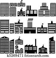 building silhouettes