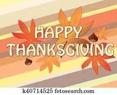 Illustration of thanksgiving card