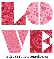 Love Text for Valentines Day Wedding or Anniversary