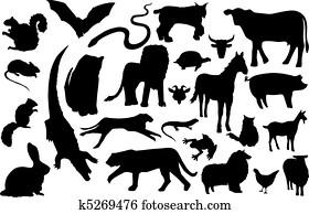 miscellaneous animal silhouettes