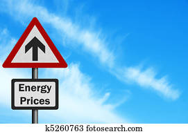 Photo realistic 'Energy Price Rise' sign