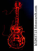 Red Electric Guitar Illustration
