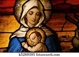 Vigin Mary with baby Jesus