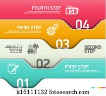 Abstract infographics steps