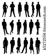 Business people, silhouette