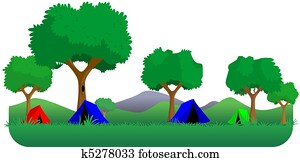 camping forest