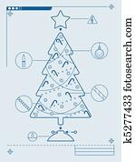 Tannenbaum Diagramm.Tanne Diagramm Clipart K11802095 Fotosearch
