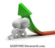 3d, klein, leute, -, statistik, verbesserung