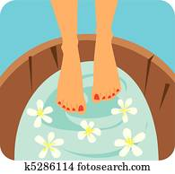Foot Care Graphic Illustration